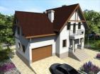Готовый проект просторного дома с мансардой